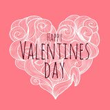Valentines day  card. Valentine background Stock Image