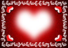 Valentines Day card. Valentine Day card, Heart frame on red and black background, Indication of the bright beauty of love Stock Photography