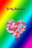 Valentines Day Card Valentines Day party invitation flyer background. With heart shapes Royalty Free Stock Photography