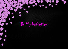 Valentines Day Card Valentines Day party invitation flyer background Royalty Free Stock Photos