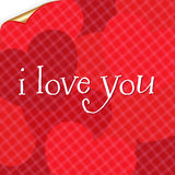 Valentines Day Card. Vector Stock Photography
