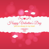 Valentines day card vector background Royalty Free Stock Photo