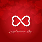 Happy valentines day greeting card vector illustration Stock Photos