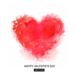 Valentines day card. Vector illustration. Abstract Background with Watercolor Stains Stock Image