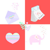 Valentines day card vector illustration Stock Image
