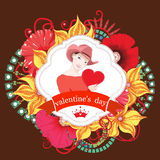 Valentines day card. Vector Stock Images
