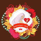 Valentines day card. Vector Stock Photo
