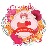 Valentines day card. Vector Royalty Free Stock Photos