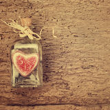 Valentines day card, vintage style Stock Image