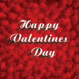 Valentines day card vith hearts background. Happy Valentine`s card on hearts background Royalty Free Stock Photos