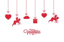 Valentines day card on white background. 8 eps Vector Illustration