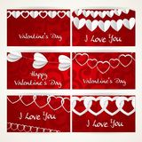 Valentines day cards on abstract background Royalty Free Stock Image