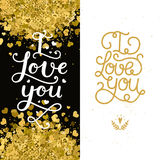 Valentines day cards Stock Images
