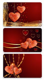 Valentines day cards Royalty Free Stock Photography