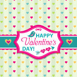 Valentines day cards with ornaments, vector. Illustration Royalty Free Stock Photography