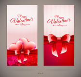 Valentines day cards Stock Photos