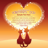 Valentines Day Cartoon Background Royalty Free Stock Image