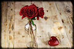 Valentines Day Celebration. Romantic Valentines Day Celebration with roses royalty free stock image
