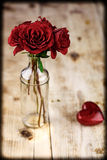 Valentines Day Celebration. Romantic Valentines Day Celebration with roses stock photo