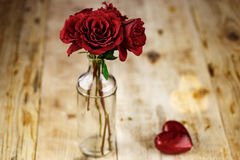 Valentines Day Celebration. Romantic Valentines Day Celebration with roses stock photos