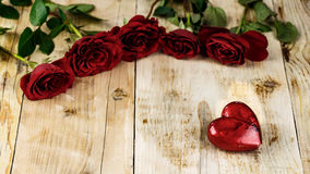 Valentines Day Celebration. Romantic Valentines Day Celebration with roses royalty free stock photography
