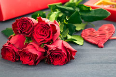Valentines Day Celebration. Romantic Valentines Day Celebration with roses and sweets royalty free stock photography