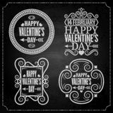 Valentines day chalk set Royalty Free Stock Images