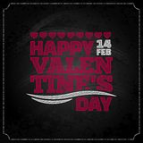 Valentines day chalkboard design background Royalty Free Stock Image