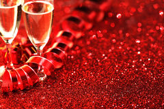 Valentines day Champagne Stock Photography