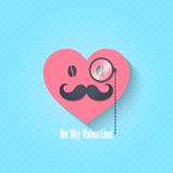 Valentines day character eyeglasses background Royalty Free Stock Photo