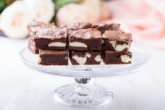 Valentines day cheesecake brownies Stock Images