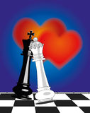 Valentines Day and chess Royalty Free Stock Photos