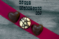 Valentines day chocolates background Royalty Free Stock Photos