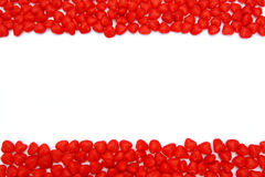 Valentines Day cinnamon hearts frame stock image