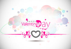 Valentines day circle background Stock Image