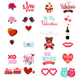 Valentines Day Clipart Icon Set Stock Images