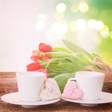 Valentines day coffee Stock Photography