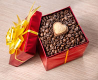 Valentines day coffee present Stock Images