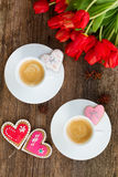 Valentines day coffee Stock Photo
