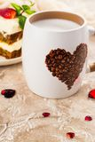 Valentines day coffee Royalty Free Stock Images