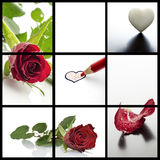 Valentines day collage Royalty Free Stock Images