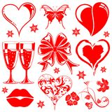 Valentines Day collection Stock Image