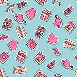 Valentines Day colored pattern. Vector illustration, EPS 10 Stock Photography