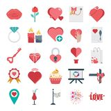 Valentines Day Colored Vector and Isolated Icons vector illustration