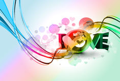Valentines day colorful 3d love design Royalty Free Stock Photos