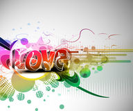 Valentines day colorful 3d love design Royalty Free Stock Photo
