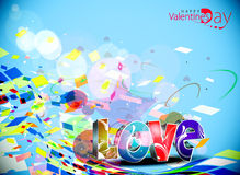 Valentines day colorful 3d love design element Stock Photography