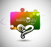 Valentines day colorful banner Stock Images