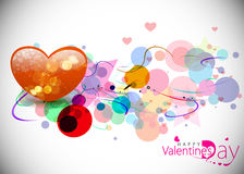 Valentines day colorful design Stock Image
