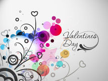 Valentines day colorful floral design Stock Photo